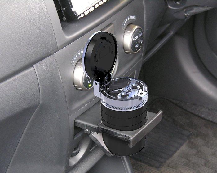 【禾宜精品】菸灰缸 SEIKO ED-178 黑 車用 太陽能充電 LED 五彩燈光 菸灰缸