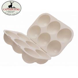 【Captain Stag】日本鹿牌抗菌六粒裝蛋盒/保護攜帶式/收納雞蛋/輕巧好收/露營幫手/預防雞蛋爆裂 M-9523