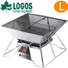日本【LOGOS】烤肉紅標焚火臺 L號 型號81064102 焚火台/烤肉架/烤肉爐/營火