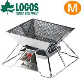 日本【LOGOS】烤肉紅標焚火臺 M號 型號81064103 焚火台/烤肉架/烤肉爐/營火