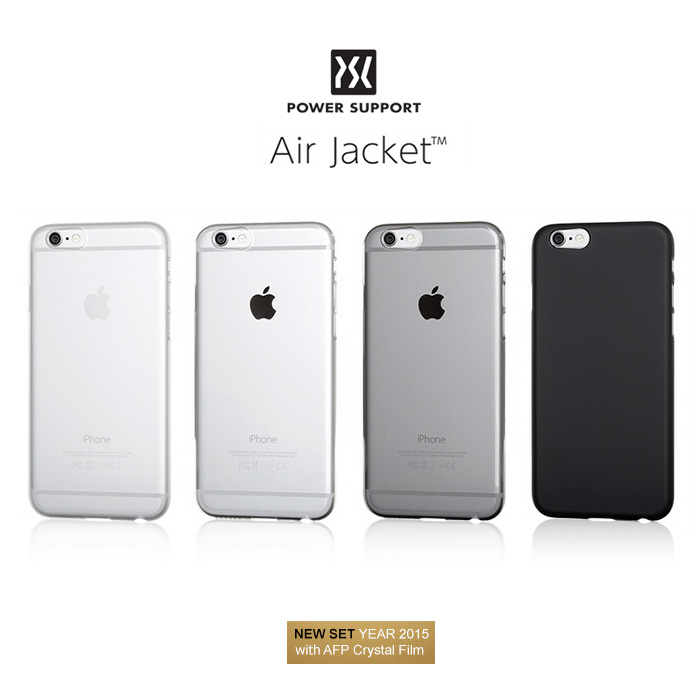 ✔ 未拆封福利品出清 ► POWER SUPPORT Air Jacket iPhone 6/6S Plus 保護殼 - 透明/透黑(其他色暫缺)