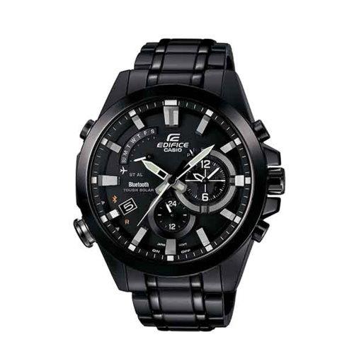 CASIO EDIFICE藍牙智慧錶款/黑鋼/EQB-510DC-1ADR