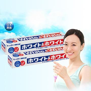 日本獅王勁倍白牙膏 含氟 潔白 牙齒【SV6912】HappyLife
