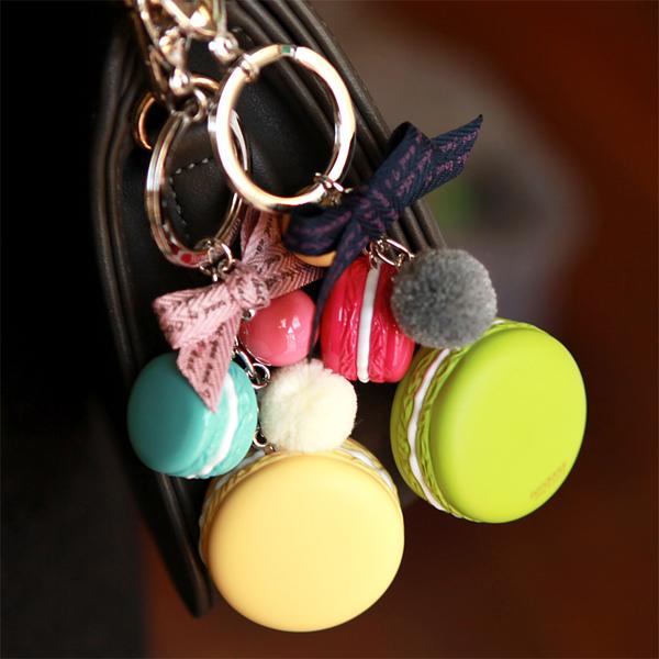 BHJ181-法國品牌Grain de Beaute 可愛馬卡龍蝴蝶結吊飾 鑰匙圈【韓國製】Aznavour