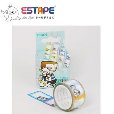 王佳膠帶 ESTAPE 馬克直拉式系列PM2537X計畫貼/ 盒