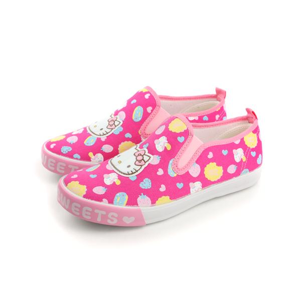 Hello Kitty 凱蒂貓 KITTY 懶人鞋 桃紅 中童 no612