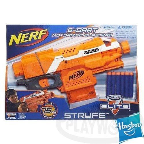 【Playwoods】[NERF樂活打擊]N-Strike系列:殲滅者自動衝鋒槍 Stryfe Blaster(孩之寶-Elite系列子彈/NERF衝鋒隊戰隊)