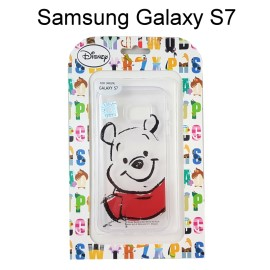 迪士尼透明軟殼 [素描] 小熊維尼 Samsung G930FD Galaxy S7【Disney正版授權】