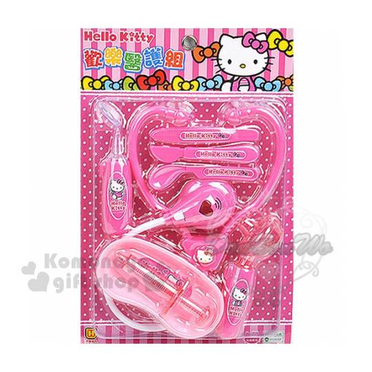 〔小禮堂嬰幼館〕Hello Kitty 醫生玩具組《粉.蝴蝶結.點點》增加親子互動