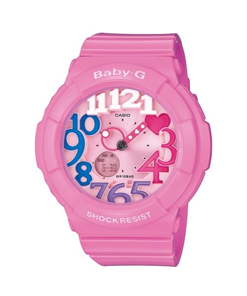 CASIO BABY-G BGA-131-4B3霓虹粉紅雙顯流行腕錶/粉紅面43.1mm