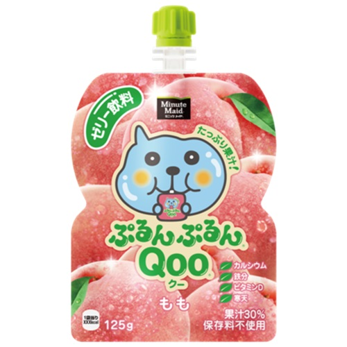 Qoo果凍飲便利包-水蜜桃(125g) 果汁含量30%
