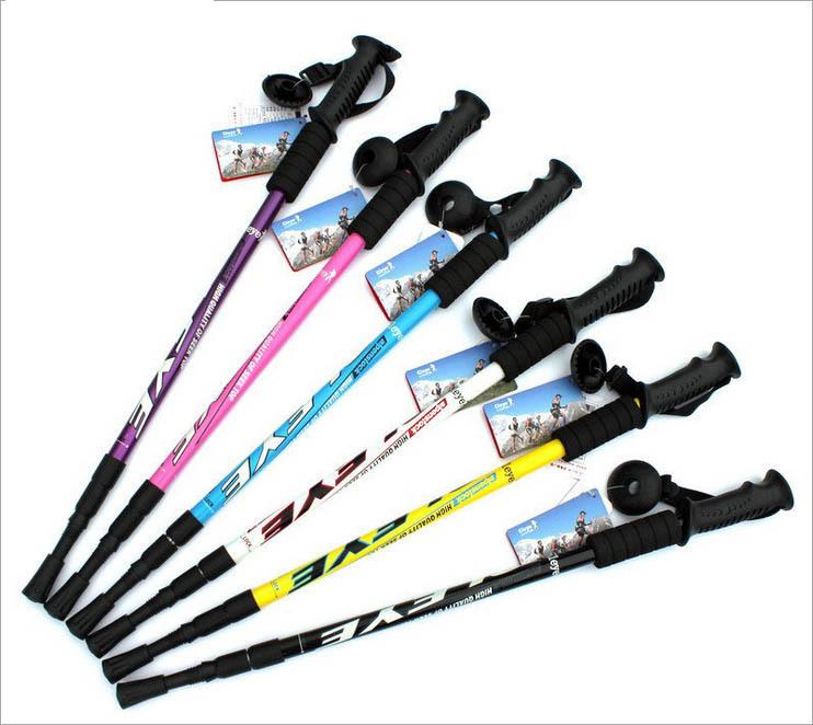 直柄老人拐杖  超輕鋁合金三節登山杖 烤漆直柄 伸縮手杖拐杖