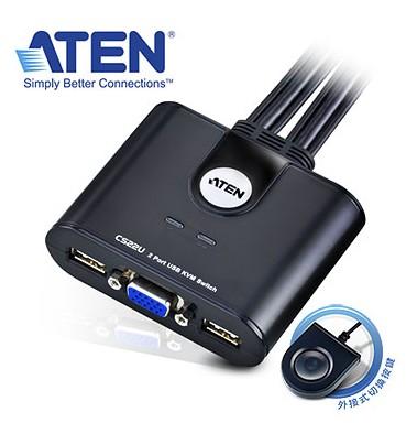 【迪特軍3C】CS22U ATEN 2埠 USB KVM多電腦切換器 (按鍵切換,non-HotKey)