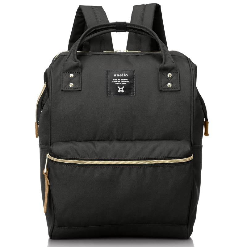 anello 黑色 日本帶回正版 帆布水洗 後背包 A4也放的下!
