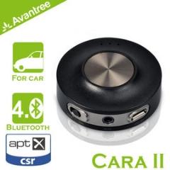 【風雅小舖】【Avantree Cara II藍芽免持/音樂接收器(BTCK-200)】支援aptX 可接聽電話/播放音樂 同時與兩支手機連接 內建鋰電池