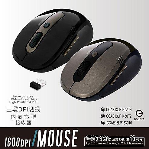 【迪特軍3C】E-books M17 省電型1600 cpi 無線滑鼠 2.4GHz無線 內嵌微型接收器