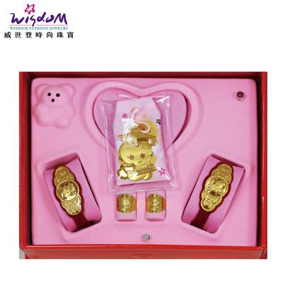 彌月黃金禮盒 3分 算盤博士禮盒 送禮推薦款