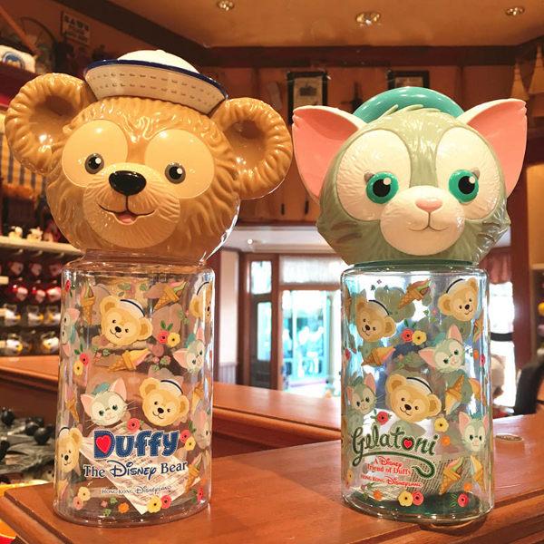 香港迪士尼樂園達菲duffy 畫家貓水壺