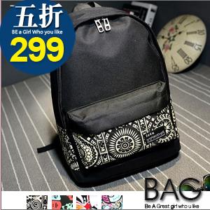 B.A.G*現+預*【BT-TU】日系塗鴉造型後背包(現+預)4色