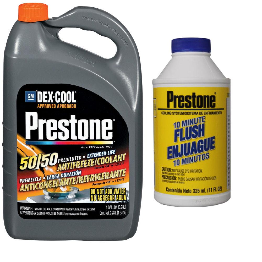 Prestone百適通極限競技型長效防凍冷卻液/水箱精AF850+10分鐘快速水箱清洗劑AS106BL