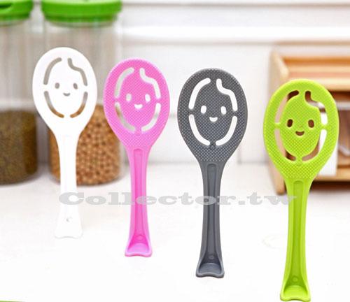 【N14041601】日式可站立笑臉不粘飯勺 飯瓢 可愛創意廚房用品