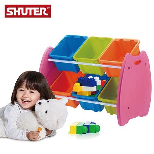 現買現省$340!樹德 EN-HA06  貓頭鷹兒童玩具整理箱 / 居家分類收納箱 ( 6格 )