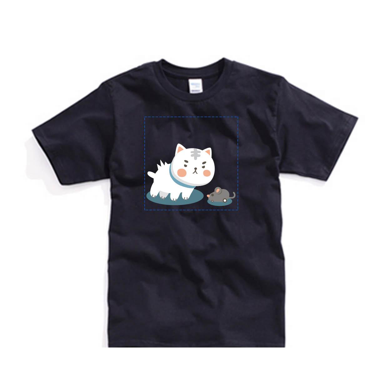 ✨ 喵星2系列✨自己的T恤自己做-色T!100%純棉台製棉T素材!一件也可以做!多件另有優惠!歡迎團體訂做!BSP喵星系001_喵與鼠_G