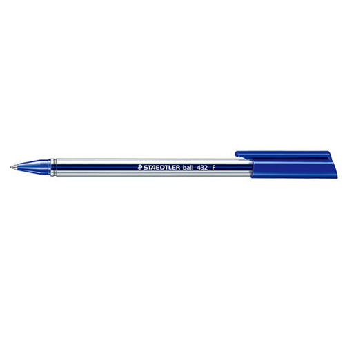 【STAEDTLER】 MS432F-3 藍色三角原子筆