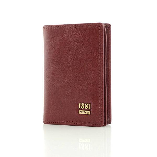 【加賀皮件】NINO1881 紳士真皮系列- 復古棕紅原皮加厚型名片夾 NI580-4020