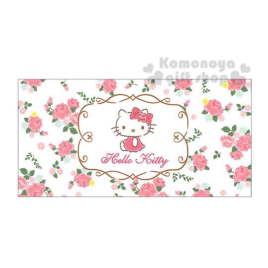 〔小禮堂〕Hello Kitty 日製便條紙本《米黃.側坐.洋裝.玫瑰滿版》15張