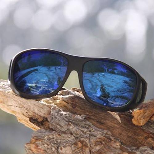 美國COCOONS專業包覆式偏光太陽眼鏡 (黑框/綠鍍膜琥珀鏡片)