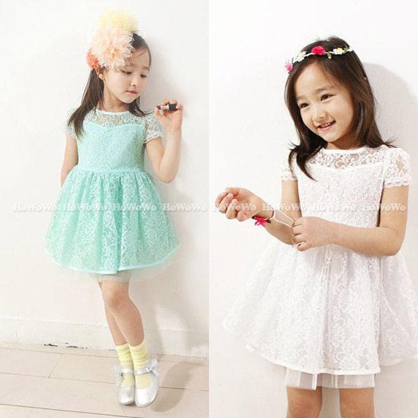 短袖洋裝 蕾絲網紗連身裙 公主裙 小禮服 FM120