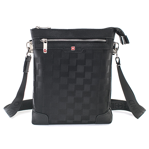 【OVERLAND】美式格紋設計直式側背包-3076