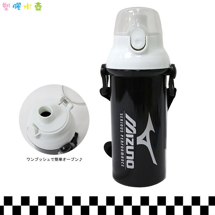 大田倉 日本進口正版 SKATER MIZUNO塑膠水壺 彈蓋直飲 480ML日本製 吸管式   162190
