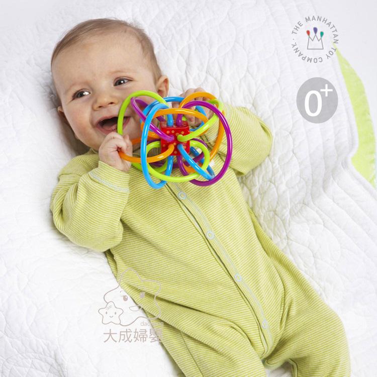 【大成婦嬰】Manhattan Toy 曼哈頓 Winkel 彩色磨牙球 // 牙膠球 固齒器 手抓球