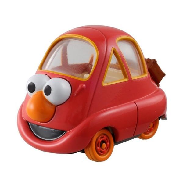 【真愛日本】15072300001 TOMY車-ELMO艾摩 芝麻街美語 艾摩 ELMO 玩具車 收藏 擺飾 模型