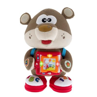 【安琪兒】義大利【Chicco】12m+ 雙語故事學習玩具熊(英/義)
