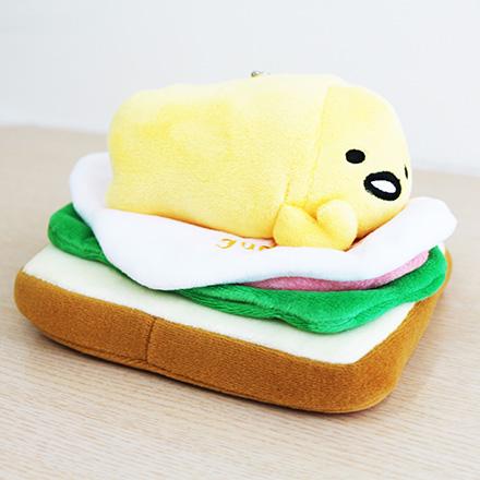 [敵富朗超市]6吋吐司蛋黃哥吊飾