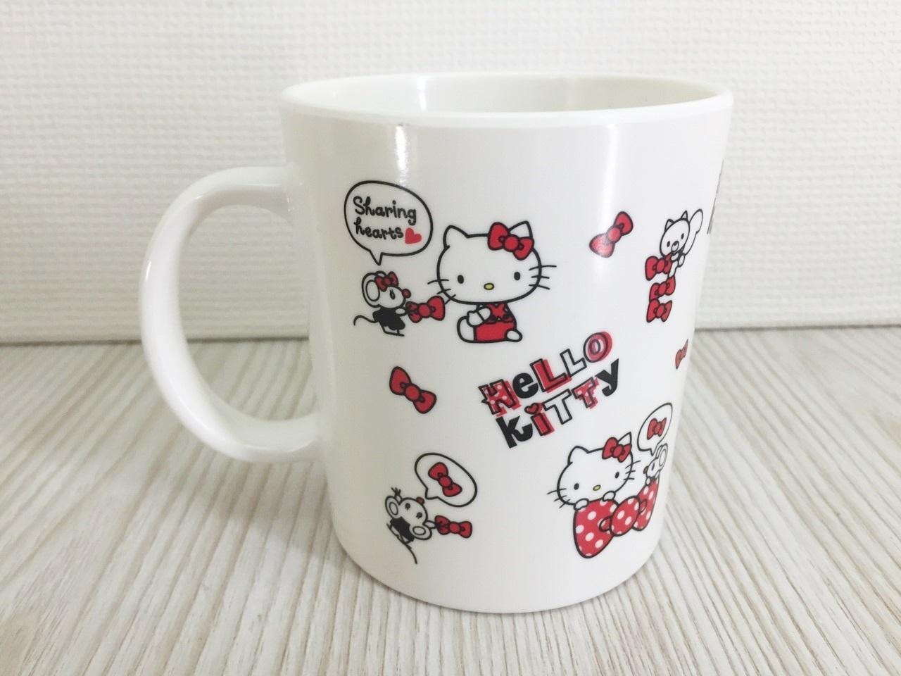 【真愛日本】15120100007馬克杯-多結紅   三麗鷗 Hello Kitty 凱蒂貓   杯子  水杯 馬克杯