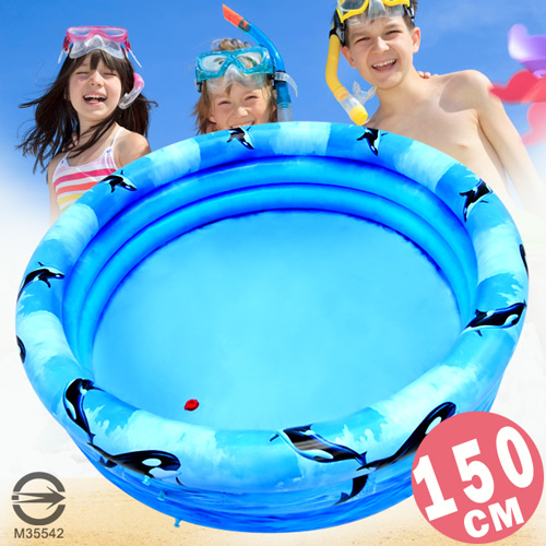 150CM小鯨魚充氣游泳池(排水孔)150公分兒童戲水池.充氣泳池球屋球池遊戲池.推薦哪裡買專賣店