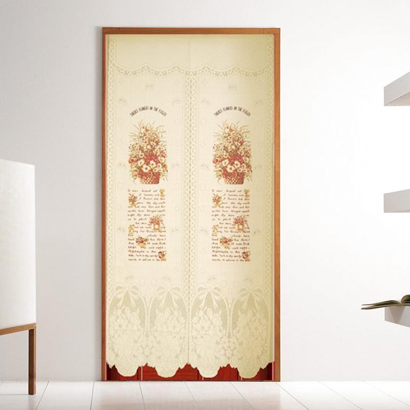 +台灣製造針織門簾【法式花籃加長版】85 x175cm 加長設計可當風水簾+