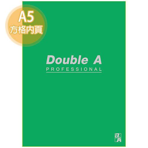 【Double A】A5/25K 膠裝筆記本 DANB15066 辦公室系列 (綠色/方格/50頁)