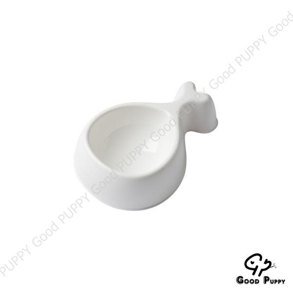 義大利UNITED PETS-Chicky雞腿寵物碗-小/白/貓碗/狗碗/寵物碗/水碗/餵食碗/餐具