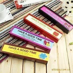 =優生活=韓國文具mini木質可抽拉 可愛卡通木製筆盒 文具盒 收納盒