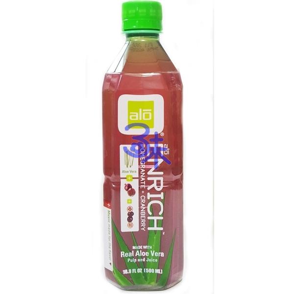 (台灣) ALOE VERA DRINK 雅姿樂 石榴蔓越莓蘆薈汁 1組 3瓶 500ml*3瓶  特價 95元【812475012262】