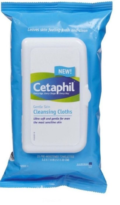【彤彤小舖】Cetaphil 溫和多效潔膚棉 卸妝潔膚棉 (無香) 25片裝 (每片 12cm X 20cm)
