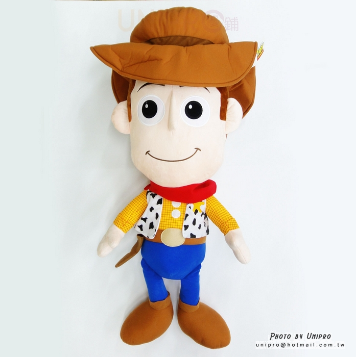 【UNIPRO】迪士尼正版 微笑 胡迪 WOODY 60公分 Q版 大頭 絨毛玩偶 娃娃 玩具總動員 牛仔