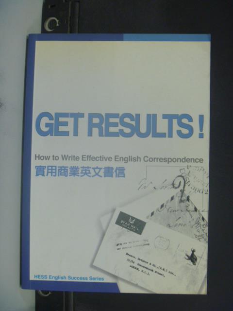 【書寶二手書T1/語言學習_ICP】實用商業英文書信-GET RESULTS_SHAD SCHROEDER