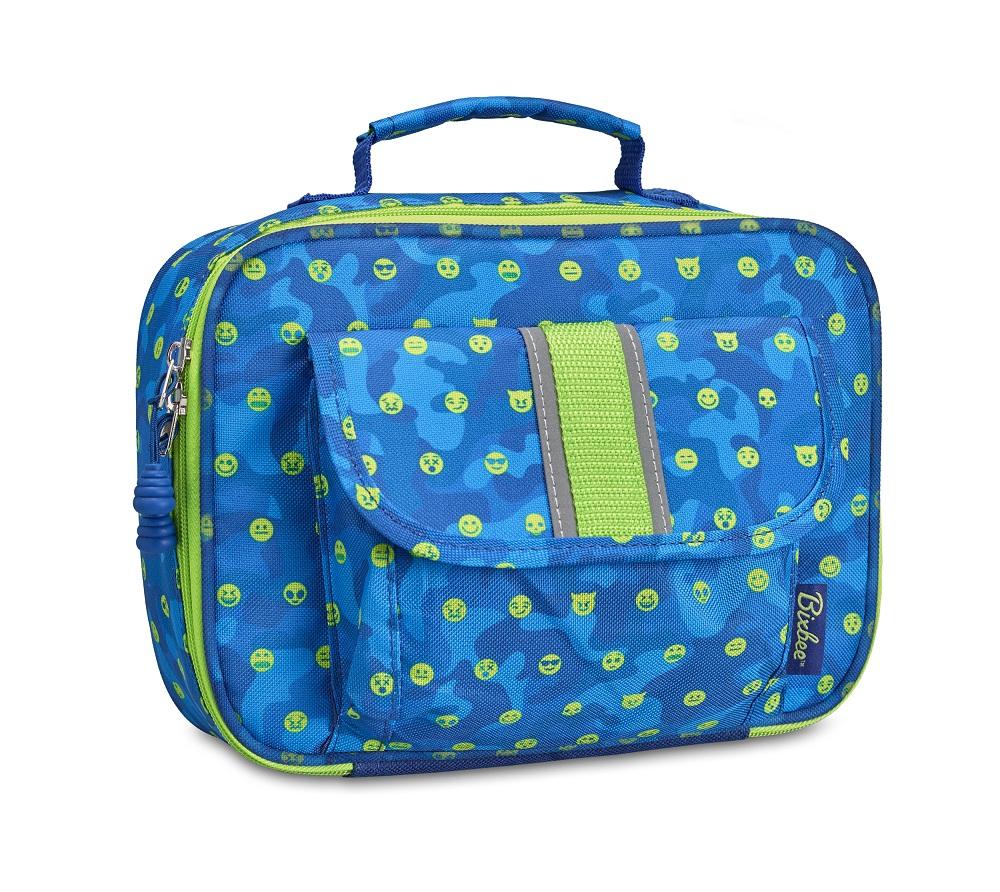 美國【Bixbee】Amazon限定版-表情符號朝氣藍保溫餐袋