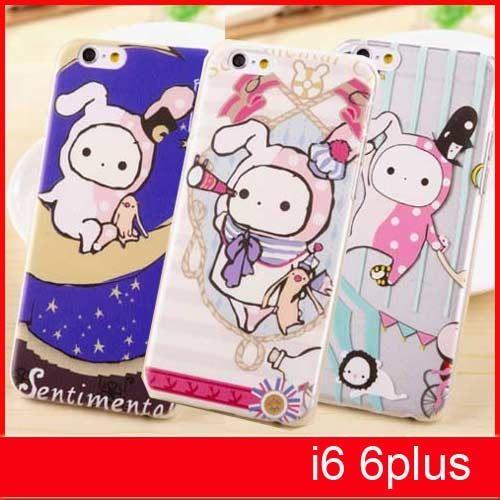 【賣萌3C】iphone6 6plus 憂憂兔憂傷馬戲團透明殼手機殼保謢套